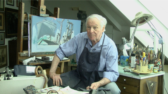 Mort Kunstler in His Studio